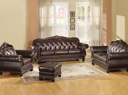 Dark Brown Leather Sofa AC 150 Traditional Sofas