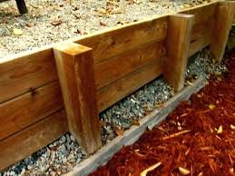 wood retaining wall wood retaining wall cost calculator