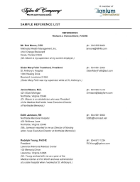 Reference List For Resume Template Sample Reference List For Resume Best Professional Resumes