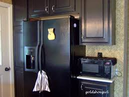 painted kitchen cabinets with black appliances. Plain With We Choose Black Paint Because Gold Shoe Girl Kitchen Reveal Throughout Painted Cabinets With Black Appliances N