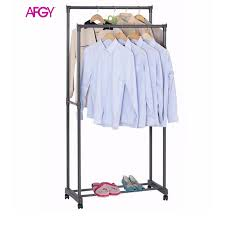 afgy fgr 030 heavy duty double pole garment rack
