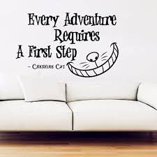 alice in wonderland wall decal vinyl sticker quotes every adventure requires wall stickers cheshire cat wall art decor in wall stickers from home  on alice in wonderland wall art quotes with alice in wonderland wall decal vinyl sticker quotes every adventure
