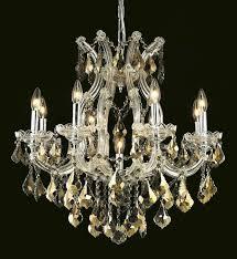 elegant lighting 2800d26c gt rc crystal maria theresa chandelier golden teak smoky