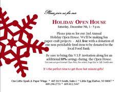 christmas open house flyer order form open house invitation open house parties and christmas