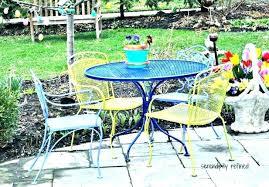 wrought iron patio dining set vintage