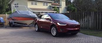 Watching a Tesla Model X Towing a Boat Is Oddly Satisfying ...