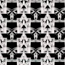 Design Behang Golven Lijnen Curled S Zwart Wit Muurbloemcom