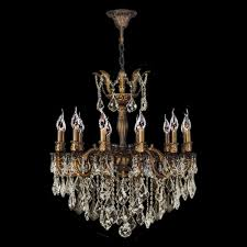 versailles collection 12 light antique bronze finish and clear crystal chandelier 27 d x 30 h large