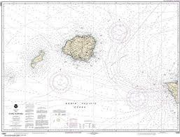 Ni Chart Amazon Com Maphouse Noaa Chart 19380 Oahu To Niihau