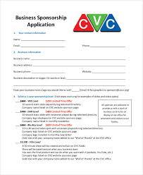 8 Sponsorship Application Templates Free Sample Example Format