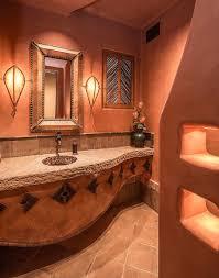 Bathroom Metal Soap Dispenser Mediterranean Style Bathroom Orange - Mediterranean style bathrooms