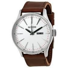nixon sentry leather men s watch a1051113