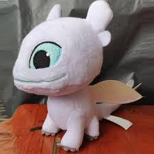 1pcs How to Train Your Dragon plush toys <b>black white</b> Toothless ...