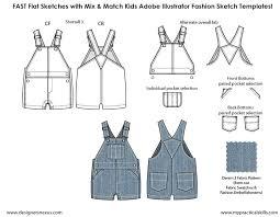 Sketching Clothing Kids Illustrator Flat Fashion Sketch Templates My Practical Skills