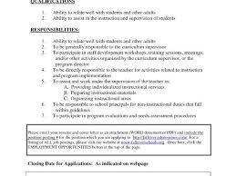 Paraprofessional Cover Letter Templates Paraprofessional Job