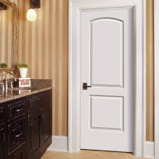 Creativity White Interior 2 Panel Doors Arch Top Primed Molded Composite Door The On Decor