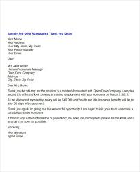 Getting Job Offer Sample Thank You Letter After Accepting Job Offer Luxury Interview
