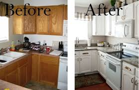 kitchen cabinets painted white before and afterKitchen  Appealing Painted Kitchen Cabinets Before And After The