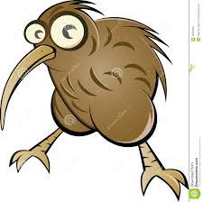 Oiseau De Kiwi De Dessin Anim Illustration De Vecteur
