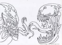 Free printable venom coloring pages. Heads Of Carnage And Venom Coloring Pages Xcolorings Com