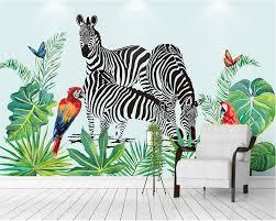 Beibehang Custom Wallpaper Hand Painted Watercolor Tropical