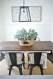 farmhouse table with metal chairs new rustic and wood dining blog