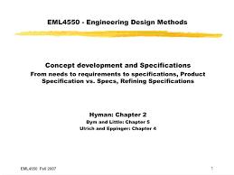 Design Vs Engineering Ppt Eml4550 Engineering Design Methods Powerpoint