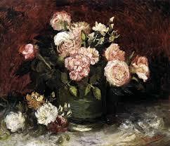 vincent van gogh bowl with peonies and roses june 1886 paris oil
