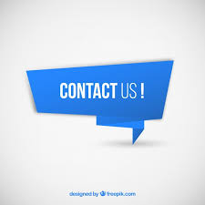 blue banner with text contact us free vector