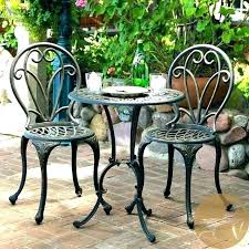 patio wrought iron patio table used furniture vintage bistro set cast 36 inch round tabl