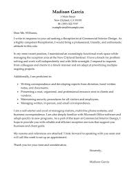 Veterinary Receptionist Cover Letter Job And Resume Template