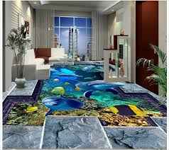 3d wallpaper custom 3d flooring painting wallpaper murals underwater world dolphin 3 d paint floor tile