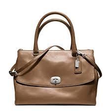 coach legacy brown harper pinnacle leather large satchel