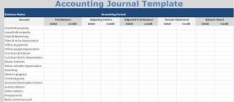 Bookkeeping Journal Template Download Accounting Journal Template Free Excel