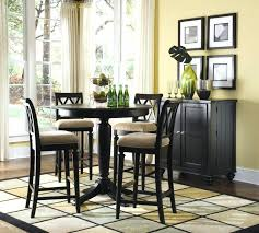 black pub dining set corner dining table chairs traditional black solid wood round black pub table