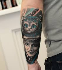 Cheshire Cat Mad Hatter Alice In Wonderland Tattoo By Korky Limited
