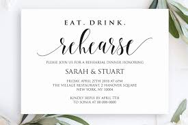 dinner template eat drink rehearse rehearsal dinner invitation template