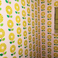 sunflower reusable allover large wall