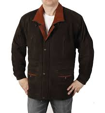 gents 3 4 length brown tan nubuck leather parka leather coat sl11031