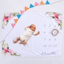 Us 11 77 38 Off Life Magic Box Soft Flannel Blanket Infant Milestones Chart Backdrops Baby Newborn Photography Backgrounds In Background From