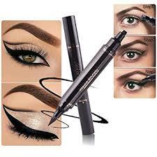 kobwa black eyeliner st 2 in 1 waterproof winged eyeliner pen quick dry long