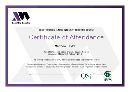 Sample Of Certificate Of Attendance As Certificate Of Attendance