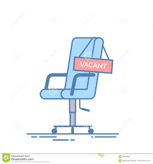 comfortable office chair office. Comfortable Office Chair With A Vacancy Sign. Business Hiring And Recruiting Abstract Concept. Search For New Employee