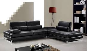 Black Leather Sectional Couches Sofa Ideas I For Innovation Design