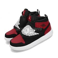 Details About Nike Sky Jordan 1 Ps I Bred Black Red White Kid Preschool Shoes Bq7197 001