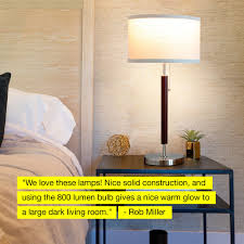Carter Led Desk And Table Lamp For Bedrooms Vintage Look Shade
