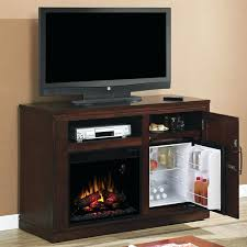 cherry electric fireplace party time empire media console wood finish