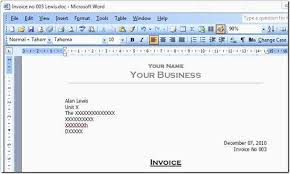 Microsoft Word 2010 Invoice Template Word Invoice Template 2010 Word