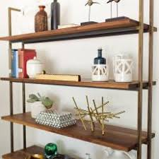 mid century modern bookshelf. Modern Large Grained Bookcase With Brass Frame Adds Room For Display In Midcentury Living Mid Century Bookshelf