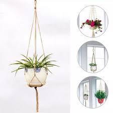 handmade macrame plant hanger wall